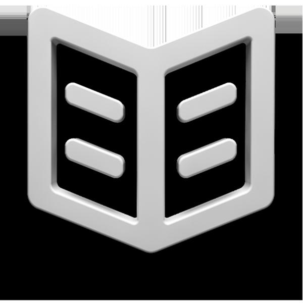Symbol aufgeschlagenes Buch