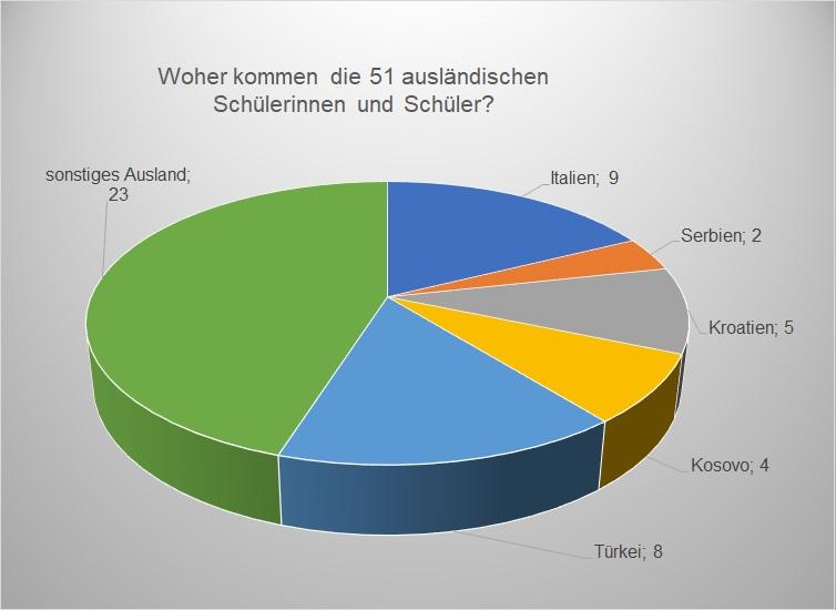 Statistikdiagramm - Herkunftsland Schüler